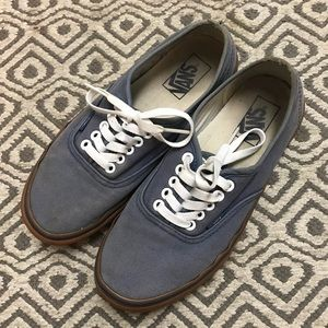 Vans Shoes - Vans authentic faded blue gum sole shoes fa95d6947